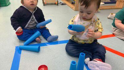 Protegido: Aula de bebés: instalación con material reciclado